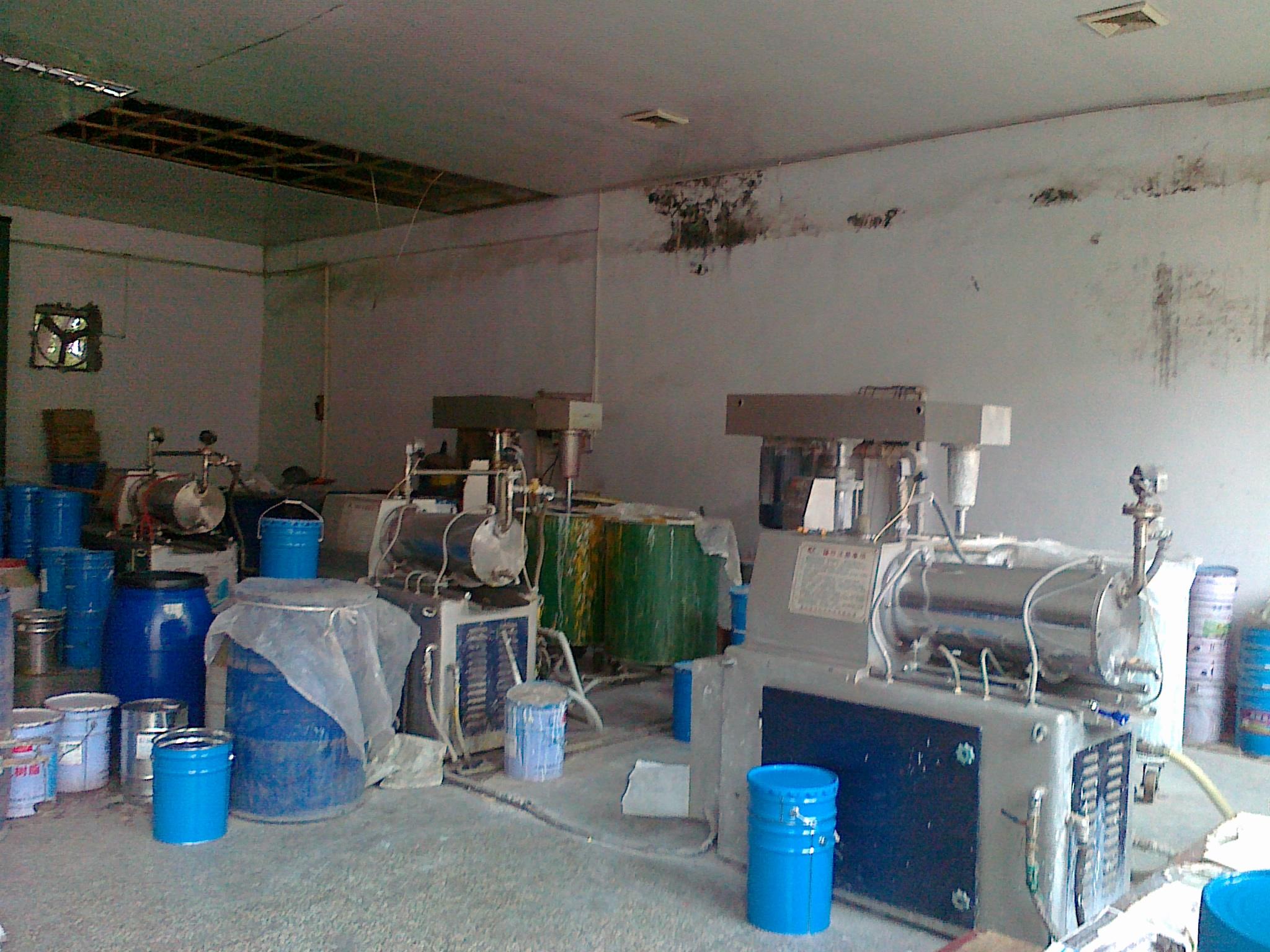 河北客户使用砂磨机生产油漆现场