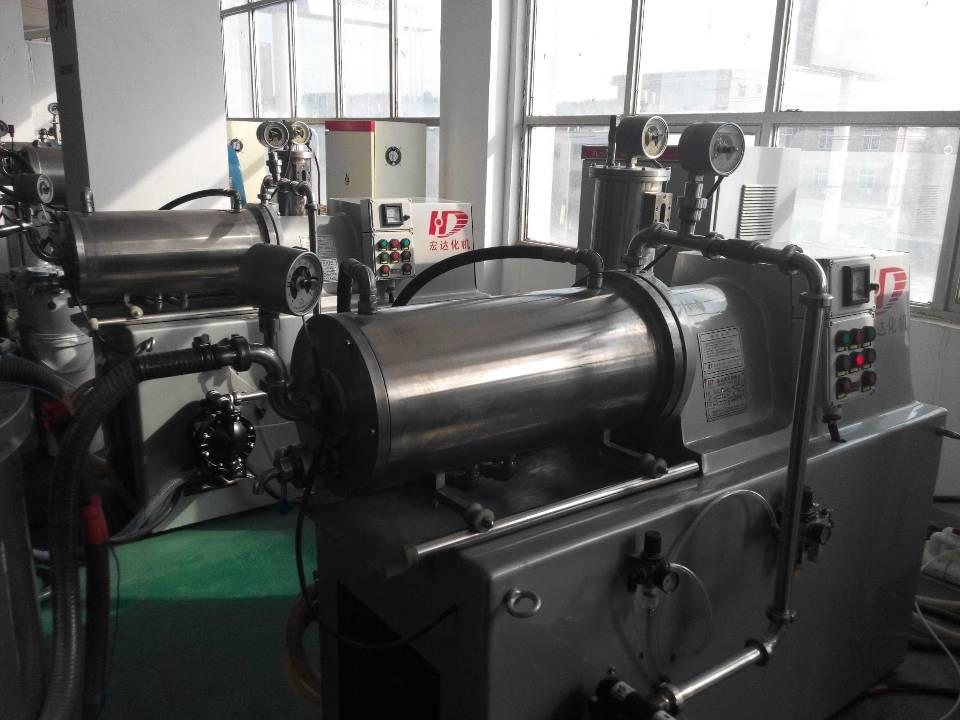 深圳客户使用砂磨生产墨水现场