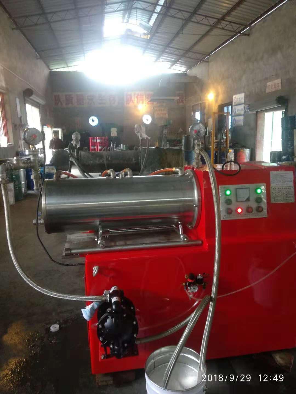 重庆客户用砂磨机生产水性防锈漆